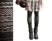 Lace Leggings - Black Banded Lace - Size XS - LAST PAIR