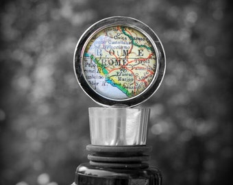 Rome Map Wine Stopper - Great Hostess Gift