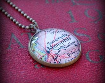 Memphis Map Necklace