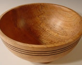 Texas Spalted Maple Wood Bowl turned wood bowl # 5482