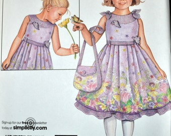 Sewing Pattern Simplicity 2949 Girls' Flower Girl Dresses  Uncut Complete Size 3-8