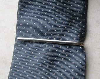 tie clip men's tie bar sterling silver wire rustic groom wedding gift boxed