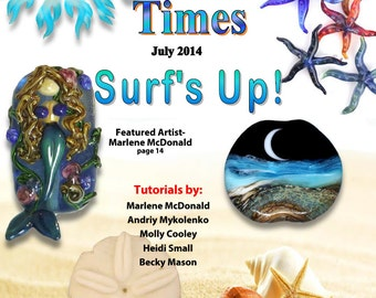 July 2014 Soda Lime Times Lampworking Magazine - Surf's Up - (PDF) - by Diane Woodall