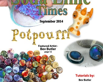September 2014 Soda Lime Times Lampworking Magazine - Potpourri- (PDF) - by Diane Woodall