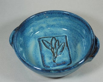 BLUE serving bowl -  baking dish - handmade - ceramic - pottery - stoneware B46