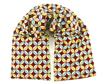 Neck Shoulder Heat Wrap; Hot Cold Therapy, Microwavable, Organic,Geometric Fabric,Holiday Gift Guide For Him
