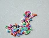 90Pcs 6mm Tiny Triangle Buttons for Baby/Babydoll Clothes