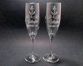 Personalized Anchor Champagne Flutes Wedding Toasting Flutes Set of 2