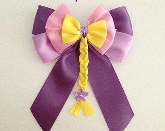 Disney inspired Tangled Rapunzel princess hair bow