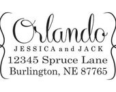 Custom return address stamps - The perfect wedding gift for the newlyweds self inking --3008