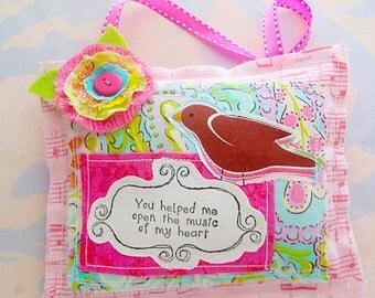 Friends Bird Stuffed Pillow Hanging Ornament