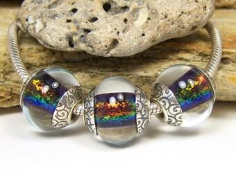 Lampwork Glass Charm Bead Set - Large Hole - BHB