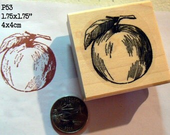 Apple rubber stamp P53