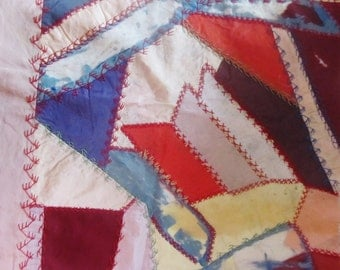 Antique Embroidered Crazy Quilt Block... Ready To Frame, Your Choice 1 of 3