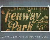 Fenway Park BOSTON red sox baseball club original graphic art giclee archival signed print by stephen fowler