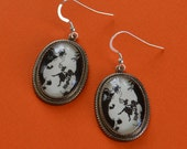 Sale 20% Off // ALICE IN WONDERLAND Earrings - Down the Rabbit Hole - Silhouette Jewelry // Coupon Code SALE20
