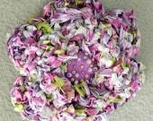 Crochet Flower Pin Brooch - Lavender, Lilac, Green