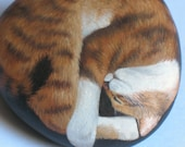 Painted Rock--Don't Wake the Tiger--Hand-Painted Stone Decor  RESERVED for Bill