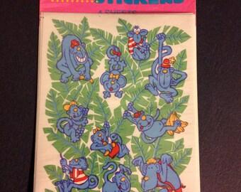 vintage hallmark monkey  sticker