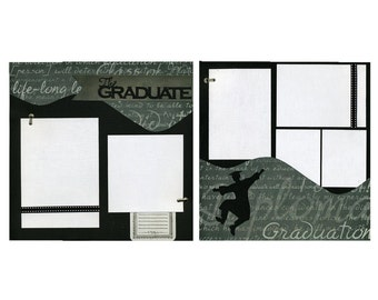 The Graduate - 12x12 Premade Scrapbook Page Set - Boy
