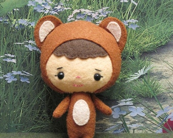 Binky Boo Felt Bear Gingermelon