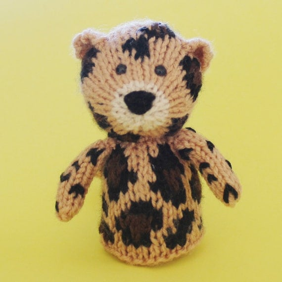 Leopard Knitting Pattern : Leopard Toy Knitting Pattern PDF Toy Egg Cozy & Finger