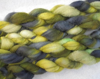 SALE - Handpainted Roving - Blueface Leicester Wool