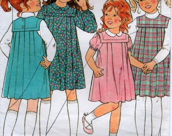 Girls Dress or Pinafore Pleated Sewing Pattern Size 5 Style 3463
