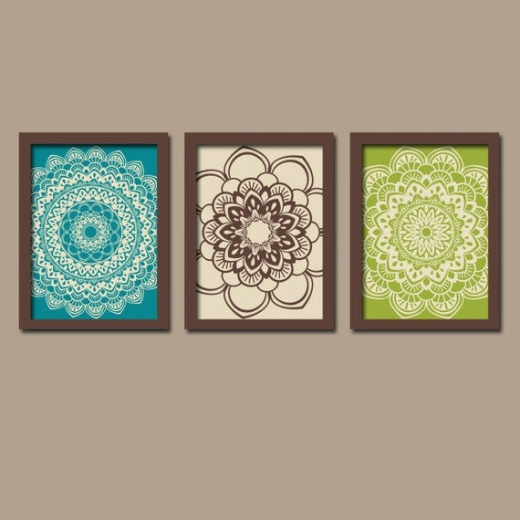 turquoise brown wall art bedroom pictures canvas or by. Black Bedroom Furniture Sets. Home Design Ideas