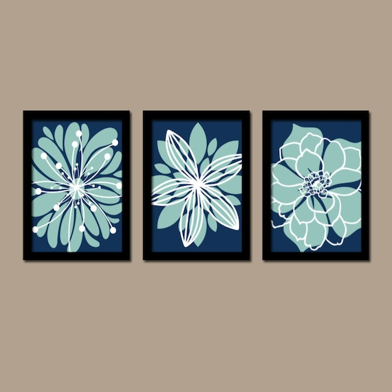 Navy Blue Wall Art Bedroom Pictures CANVAS Or Prints By