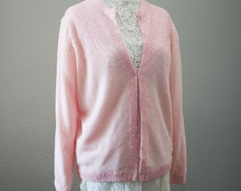 Pink Sweater with Sequins fits medium-large