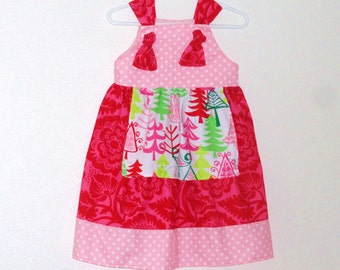 Toddler Girls Knot Dress Size 2 Ready to Ship Sample Sale