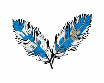Feathers Machine Embroidery Designs..2777