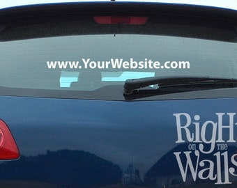 """Website URL Car Decal 36"""" Domain Business Sticker for your Website"""