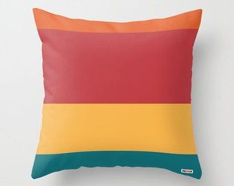 Stripes Decorative throw pillow cover - Modern accent pillows for sofa - colorful pillow case - Original textile couch pillow