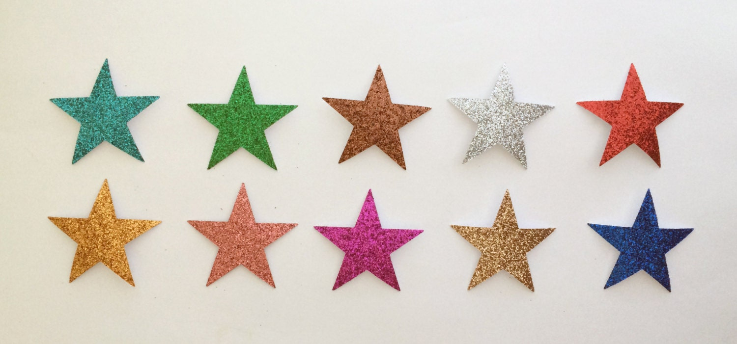 Glitter star die cut stickers 1 12 inch size 10 colors glitter star die cut stickers 1 12 inch size 10 colors available embellishments scrapbook art craft greeting cards holiday school paper kristyandbryce Images