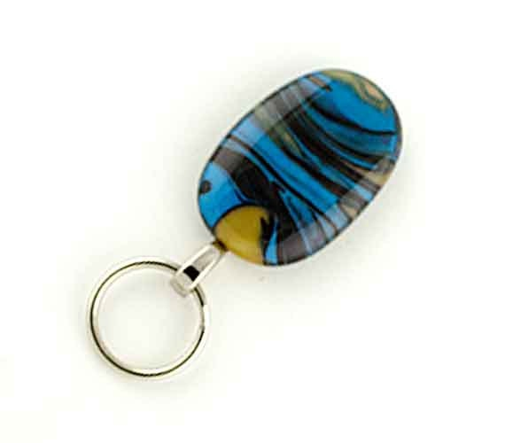 magnetic id holder and magnetic eyeglass holder blue and