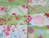 Modern Patchwork Baby Blanket Crib Blanket  - Made with the Sugar Hill Collection by Tanya Whelan for Free Spirit Fabrics - flannel back