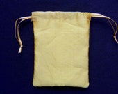 Silk pouch small -lined yellow  reuseable bag for gifts, presentation, costume - small but generous size- ready to ship
