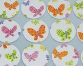 """Pastel Butterflies 2"""" Diecut Circles or Sticker Set"""