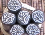 Wild Foliage 3/8 Design Stamp 7 mm x 6 mm looks great free form foliage