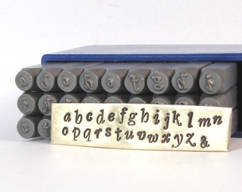 2.75 MM Swanky Metal Alphabet Stamps Lower Case for hand word stamping or initial stamping