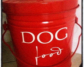 dog food storage decal u2022 removable vinyl decal pet care dog u2022 labels u2022 pantry - Dog Food Containers