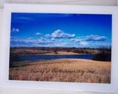 Photo Card Lake and Grassland