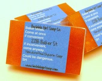Sherlock 221B Baker Street Mini GUEST BAR Glycerin Soap Handmade