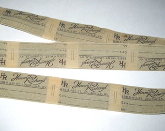 20 Continuous Vintage Hinman Richard Woven Clothing Labels or Ribbon Louisville, KY