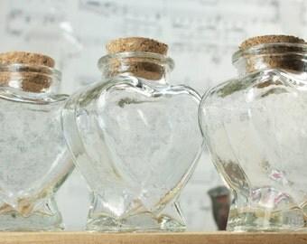 Heart Bottle with Cork - Single Bottle - #310-12-842