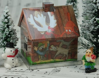 Wood Gnome Home miniature home fairy garden fairyland house - D-017-23-2