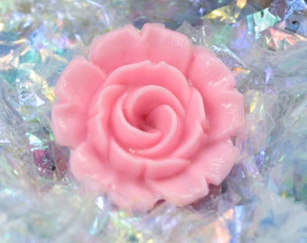 Pink Carnation Flower jewelry beads craft project diorama scrapbooking accessories embellishments - 203-4-1204