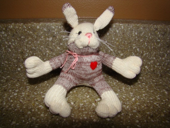 Small Toy Rabbits : Mini baby sock monkey bunny rabbit toy doll